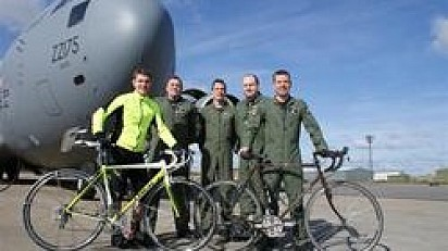 Top Cheltenham Hairdresser Joins RAF for Lands End to Cheltenham Cycle Ride
