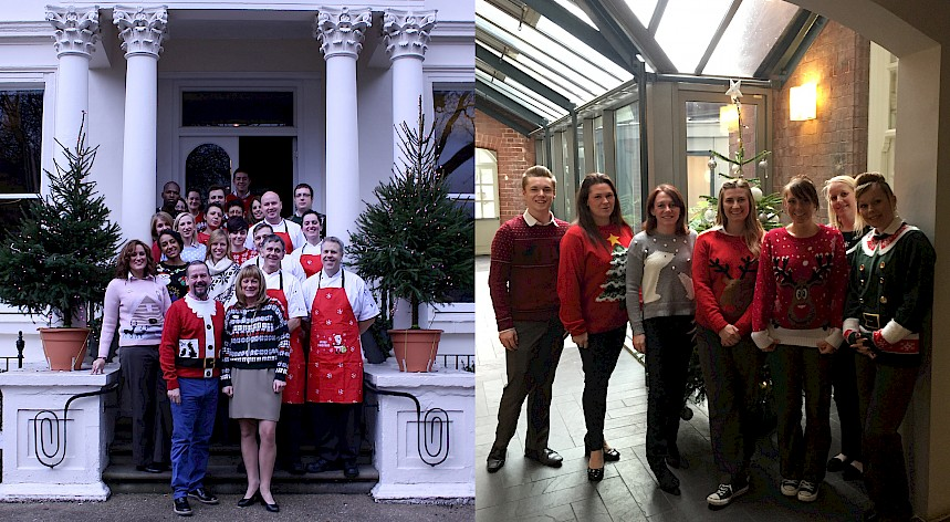 Hotel Teams Don Christmas Jumpers for Charity