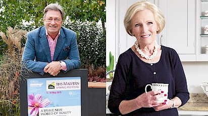 Mary Berry & Alan Titchmarsh Headline RHS Malvern Spring Festival 2016