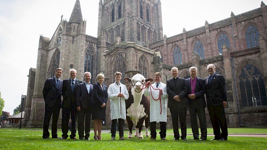 Un-BULL-Evable! Pedigree Bull Returns To Home Turf at Hereford Cathedral